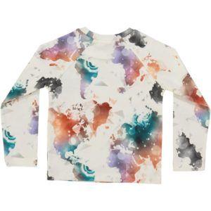 long-sleeved kids t-shirt, organic cotton, world map print
