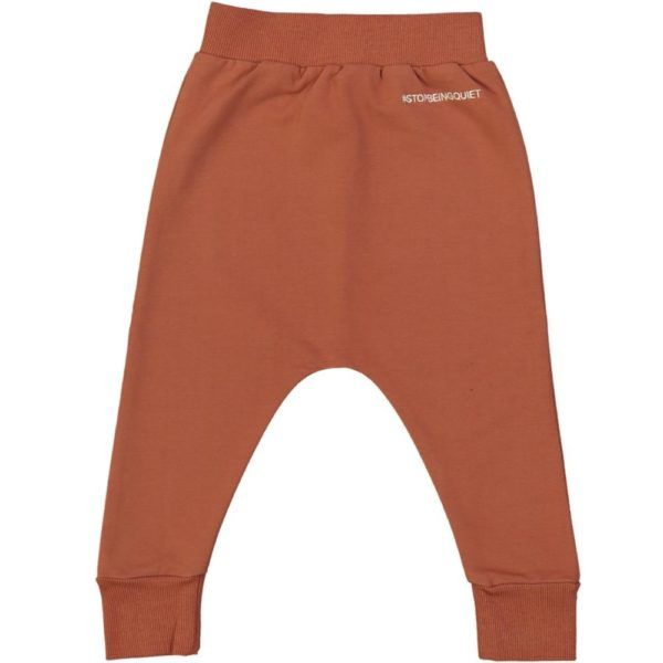 kids long trousers, certified organic cotton, terracotta colour