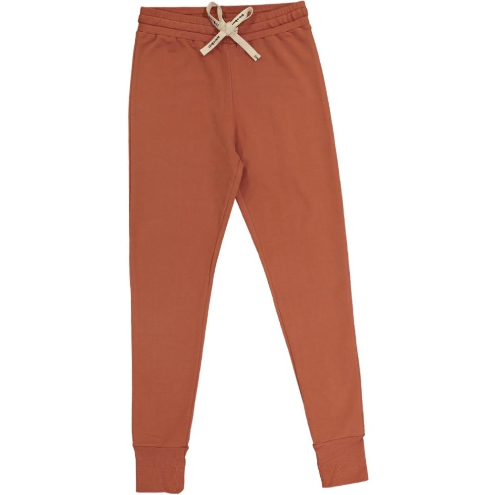 casual adult pants, organic cotton, colour terracotta