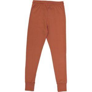 casual adult pants, organic cotton, colour terracotta