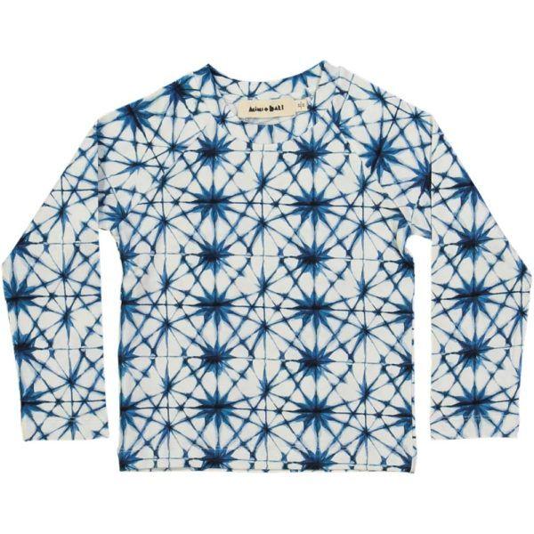 long-sleeved kids t-shirt, organic cotton, ice crystal print