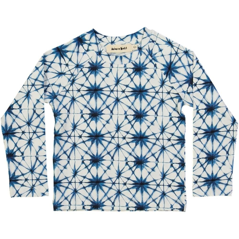 long-sleeved kids t-shirt, organic cotton, ice crystal print