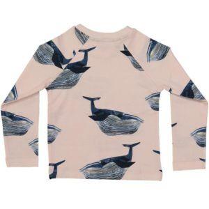 long-sleeved kids t-shirt, organic cotton,  whale print