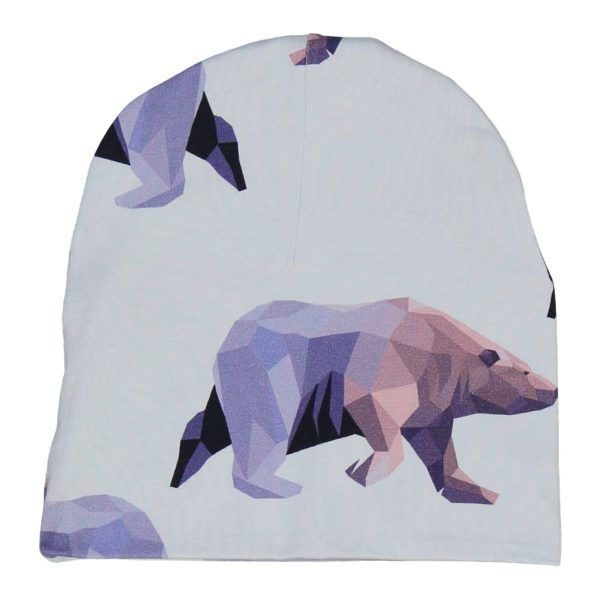 kids organic cotton beanie with icebear print