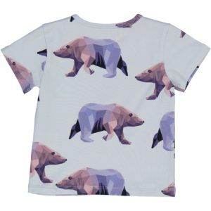 organic cotton short sleeved t-shirt with icebear print