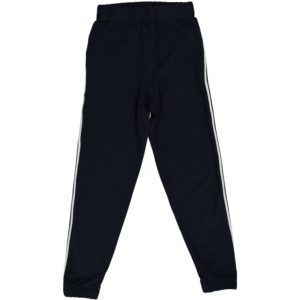 adult casual blue trousers, with stripe on side, organic cotton