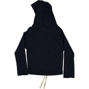 organic cotton kids hoodie, dark blue