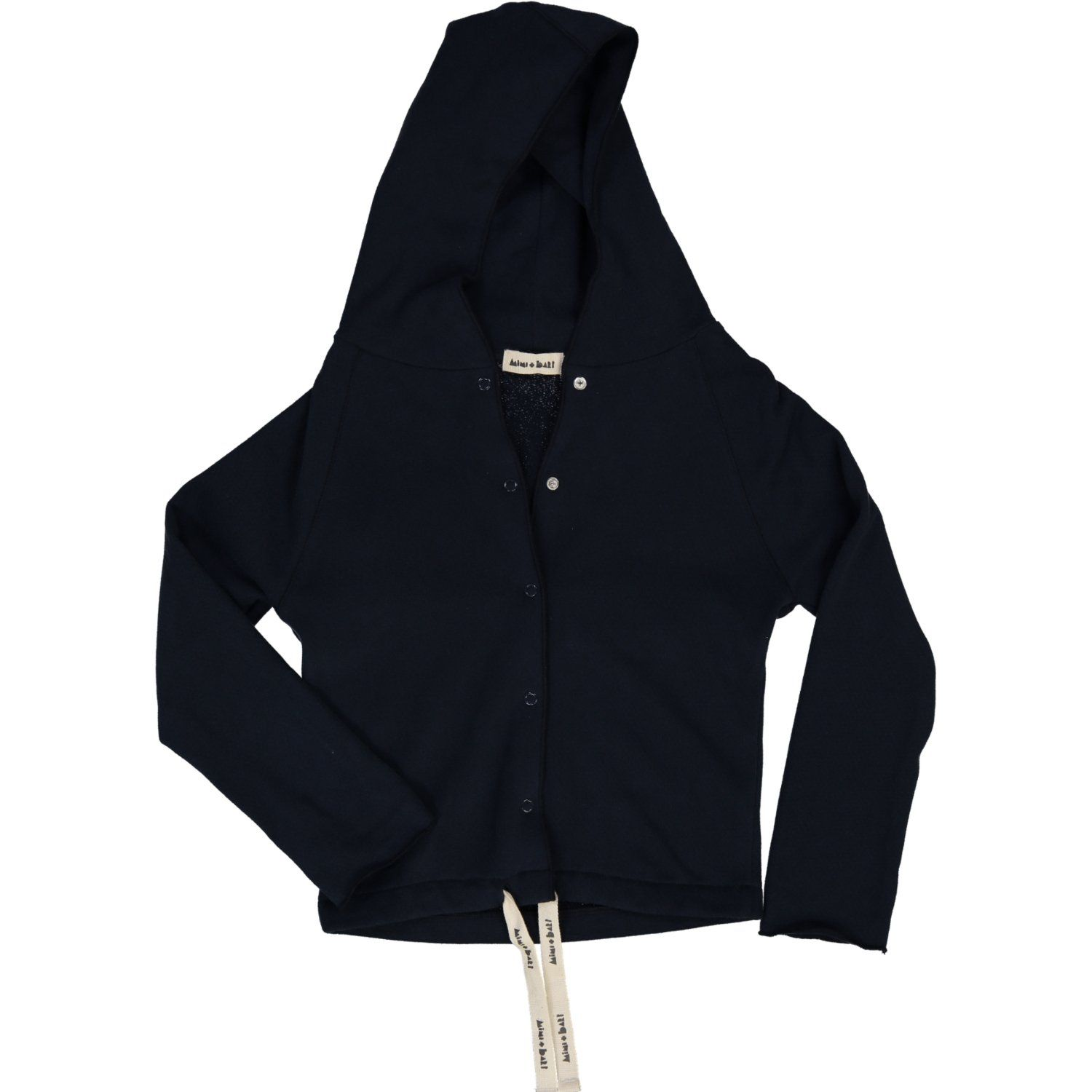 organic cotton kids hoodie, dark blue