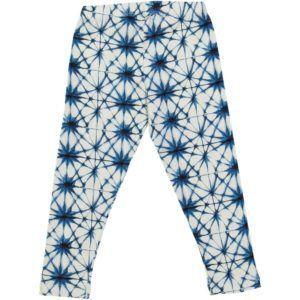 kids organic cotton leggings with ice crystal  print