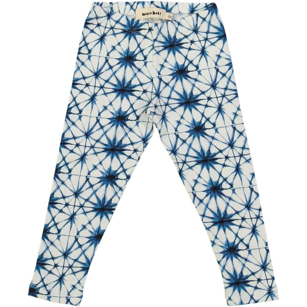kids organic cotton leggings with ice crystal  print