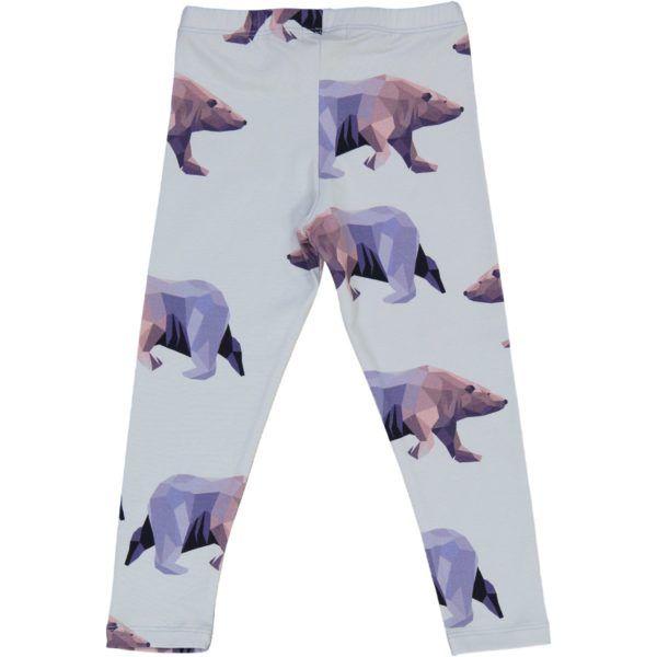 kids organic cotton leggings with icebear print