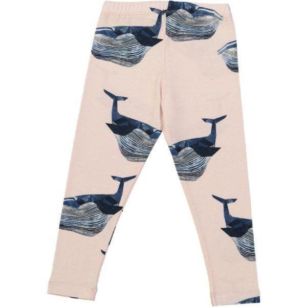 kids organic cotton leggings with whale print