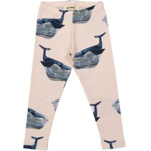 kids organic cotton leggings with whale print