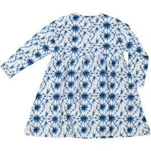 organic cotton kids dress with ice crystal print