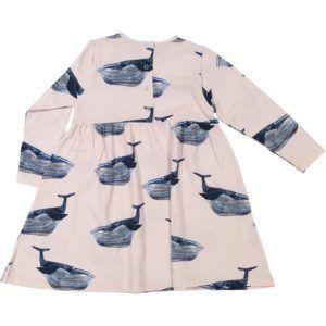 organic cotton kids dress with whale print
