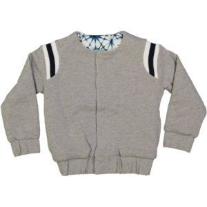 organic cotton reversible kids bomber jacket, college style