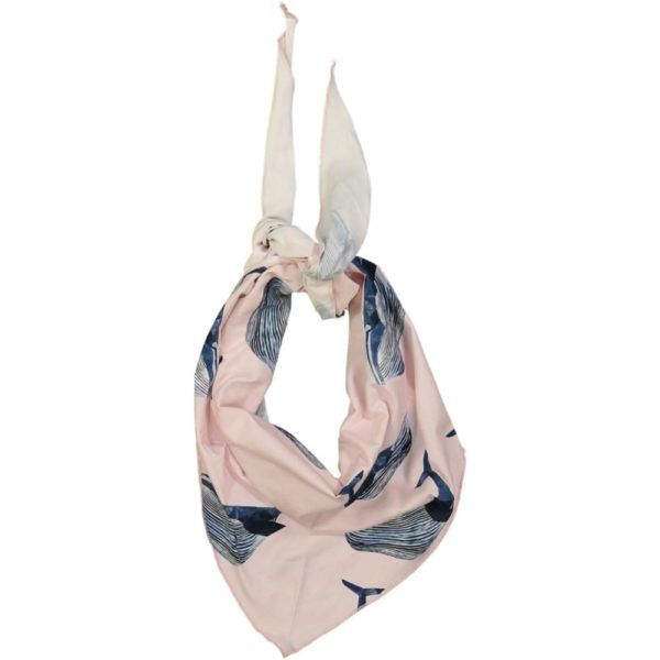 kids scarf with whale print