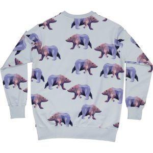 organic cotton adult sweater with icebear print