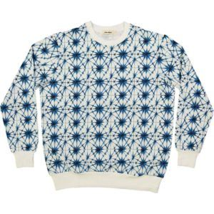 organic cotton adult sweater with ice crystal print