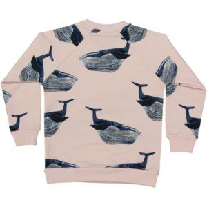 organic cotton kids sweater with whale print