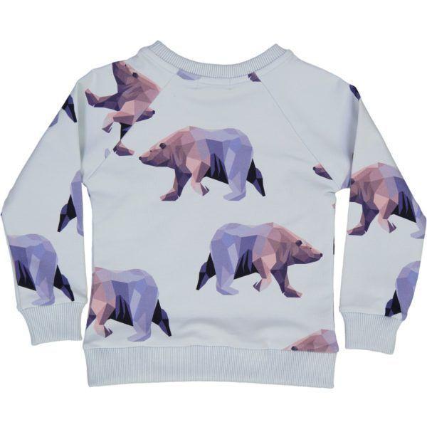 organic cotton kids sweater, with icebear print
