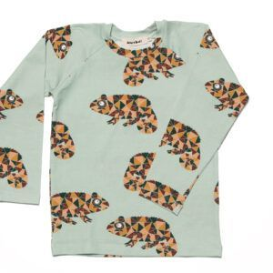 Long Sleeved T-Schirt for kids with chameleons
