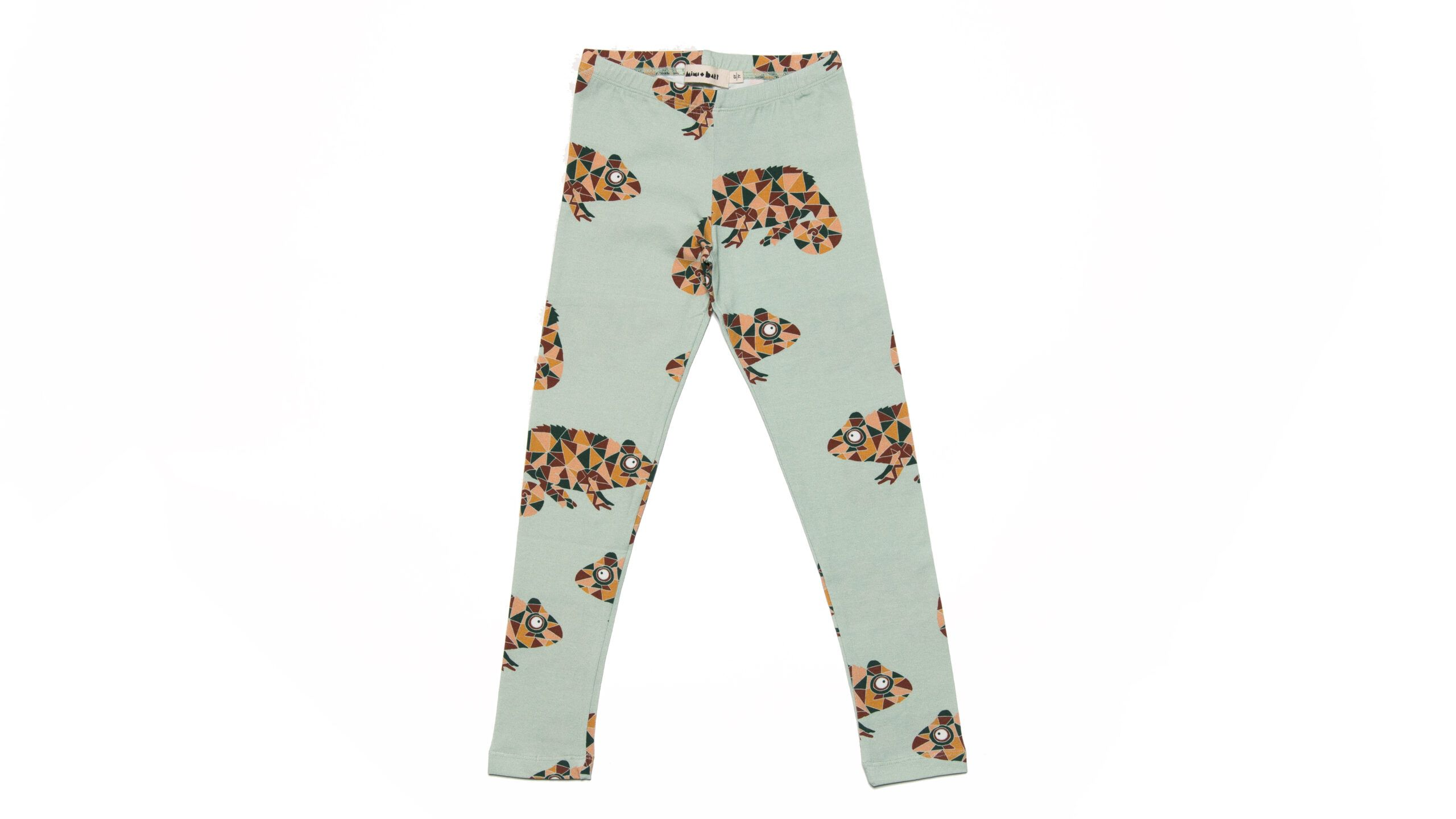 Kids leggings with chameleons