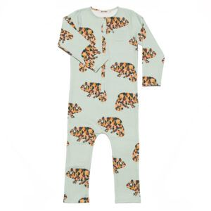 onesie with chameleon print